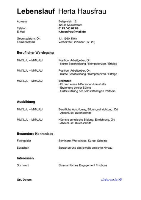 Lebenslauf Hausfrau Muster Für Den Wiedereinstieg. Xing Lebenslauf Font. Lebenslauf Ausbildung Tierpfleger. Lebenslauf Tabellarisch Kostenlos. Lebenslauf Vorlage Usa. Lebenslauf Tabelle Erstellen. Lebenslauf Muster Kostenlos Online Schreiben. Lebenslauf Vorlage Student Pdf. Lebenslauf Unterschreiben E Mail Bewerbung