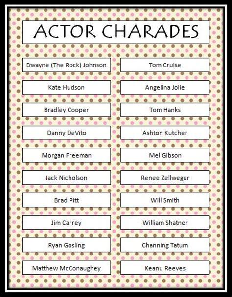 actor charades free printable munchkins