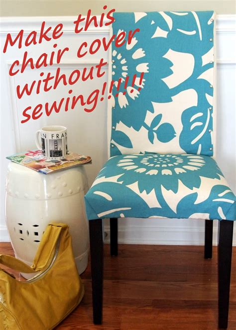 chair cover dining fabric sew chair pads cushions