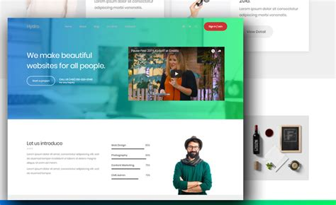Portfolio Website Templates Free Portfolio Website Template To Create A Beautiful