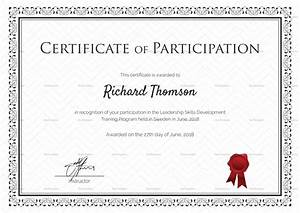 training participation certificate design template in psd With training participation certificate template