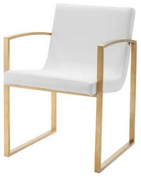shop houzz artefac stylish armchair with brushed gold