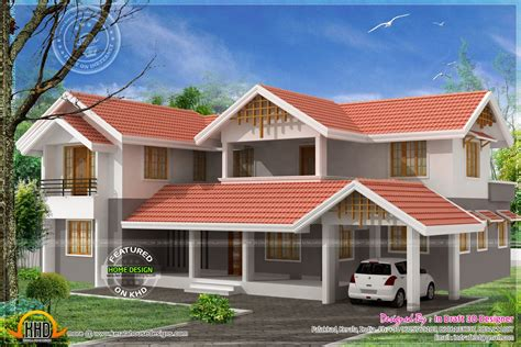 3d Home Design In 2860 Sqfeet  Kerala Home Design And
