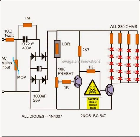 10 best led l circuit schematic diagramm on electronics projects circuit