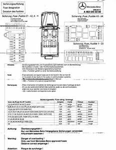 W463 Fuse List  - Page 2