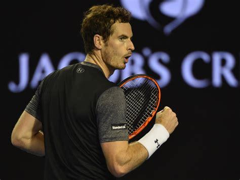 Andy murray black t shirt and white cap still. Australian Open 2016: Andy Murray overcomes Bernard Tomic ...