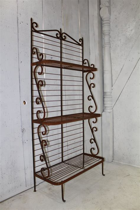 wrought iron bakers rack wrought iron forged bakers rack