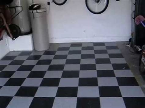Armstrong Vct Garage Flooring by Armstrong Garage Floor Black And Gray Checker Vct Tile