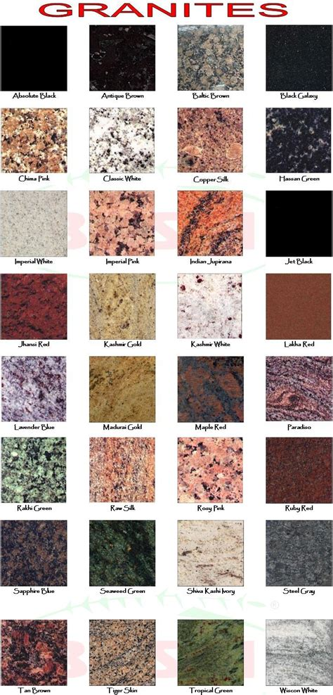 catalog popular top granite colors 2017 in india best