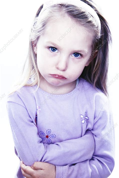Grumpy Girl Stock Image M8302191 Science Photo Library