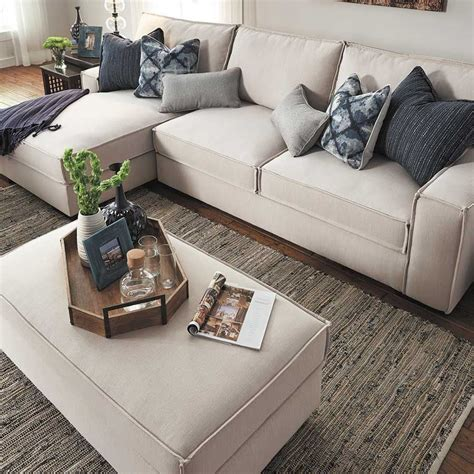 kendleton stone chair pc sectional sofa  laf chaise   kendleton stone collection