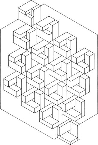 optical illusion  coloring page colouring optical
