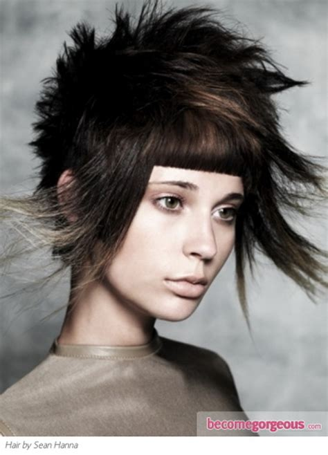 punk hairstyle for medium length hair video search