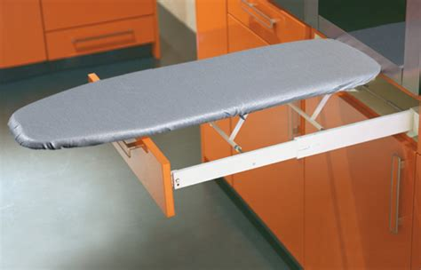 desk with pull down cover hafele ironfix ironing board built in in the häfele
