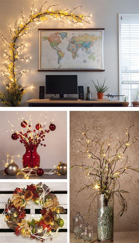 lighted branches  diy decorators dream