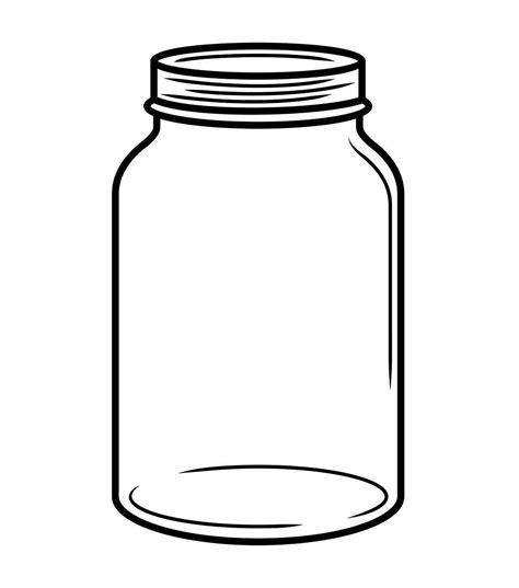 mason jar outline template clipart