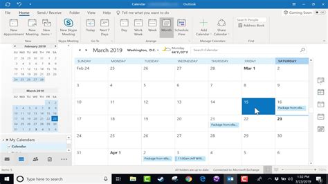 Office 365 Outlook How To Calendar by Using The Microsoft Outlook Calendar 2019 Tutorial