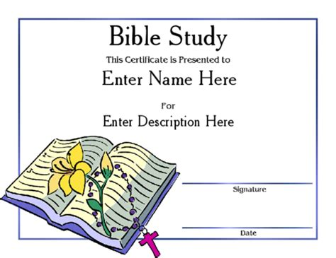 Of The Bible Certificate Bible Award Pictures To Pin On Pinsdaddy