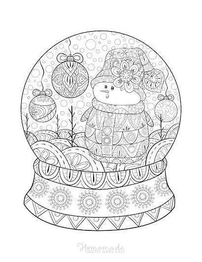 Coloring Adults Printable Easy Snowman Sheets Homemade