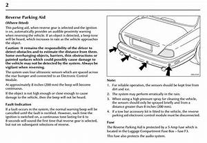 Parking Aid Wiring Diagram