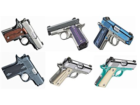 colored pistols 6 colorful kimber micro 380 pistols for concealed carry