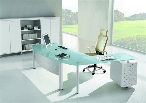 meuble bureau verre bureau verre