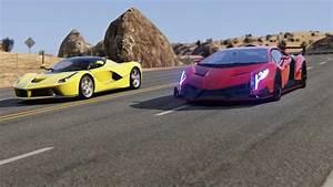 Ferrari Vs Lamborghini : battle lamborghini veneno vs ferrari laferrari at black cat country youtube ~ Medecine-chirurgie-esthetiques.com Avis de Voitures