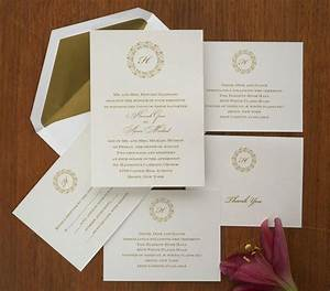 single initial wedding invitation set thermography With traditional addressing wedding invitations