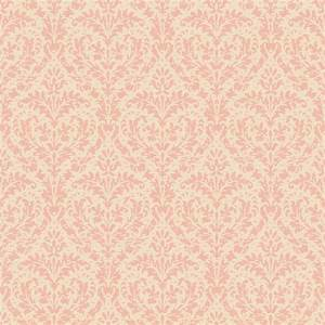 Casabella II Blush Pink And Cream Elegant Damask Wallpaper ...