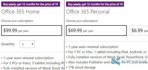 office 365 vs office 2016 perbedaan kekurangan dan