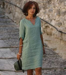 robe en lin vert luberone With robe en lin chic