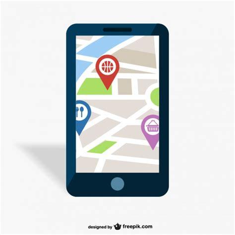 gps mobil gps mobile app vector free
