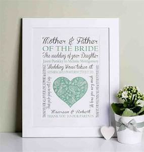 unique wedding gifts for parents of the bride and groom With unique wedding gifts for parents