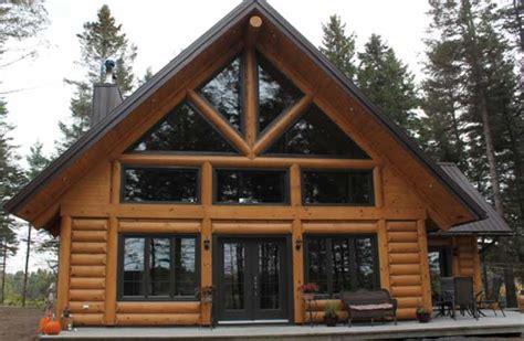 construction de chalet en bois rond usin 233 prestige bois rond