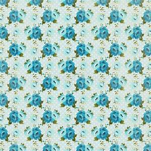 Blue Vintage Retro Rose Floral Background Repeating ...