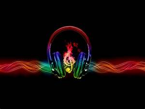 Photo Collection Backgrounds Headphones Music