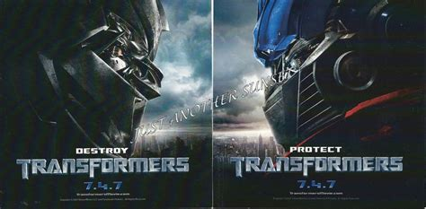 Promo Set Kulot Prime transformers 2007 destroy protect promo stickers