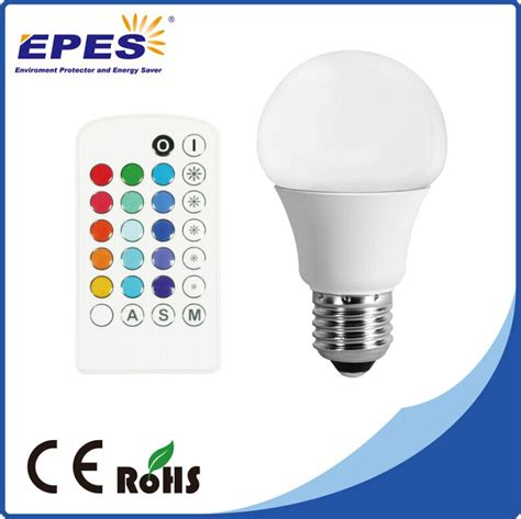 e27 5w rgb multicolor led 16 color changing l light