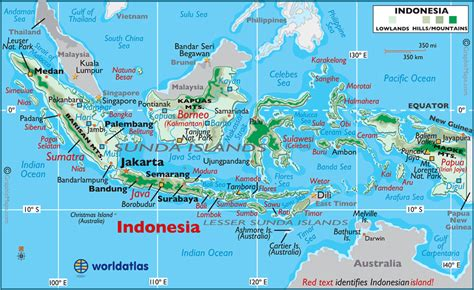 indonesia large color map