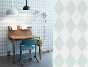 Papier Peint Bureau : papiers peints g om triques pour un bureau blog au fil ~ Melissatoandfro.com Idées de Décoration