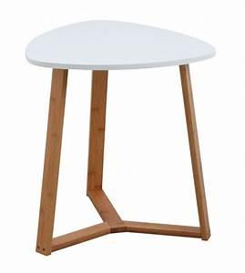 Table D Appoint Jardin : table d 39 appoint en bois et mdf laqu blanc ~ Teatrodelosmanantiales.com Idées de Décoration