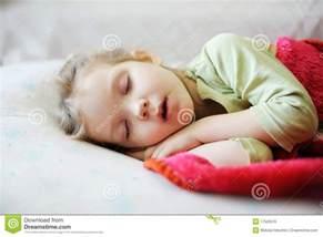 Little Girl Sleeping Mouth Open