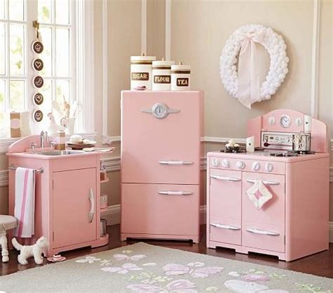 pink retro kitchen collection pottery barn