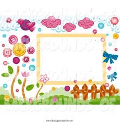 Birds and Flowers Border Clip Art