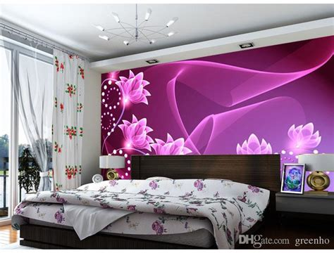purple wallpaper  bedroom walls gallery