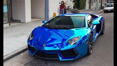 Beautiful Lamborghini Aventador Chrome Blue