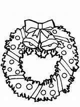 Wreath Coloring Christmas Pages Bells Advent Wreaths Sketch Drawing Print Template Colour Holidays Happy Collection Sun Utilising Button Printing Clipartmag sketch template