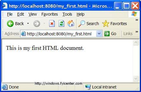html document apache publishing html documents to your local apache server