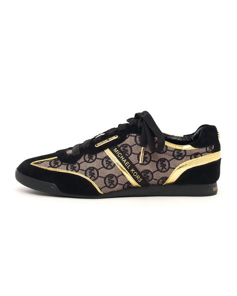michael michael kors monogram trainer  black lyst