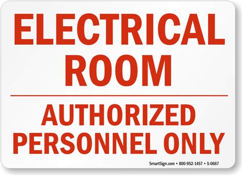 Electrical Room Signs Mysafetysignm